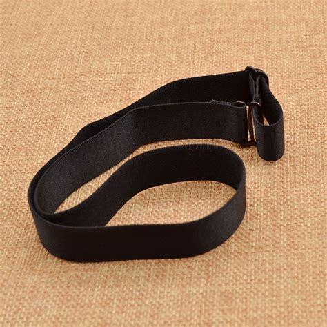 black leather leg ring garter belt elastic