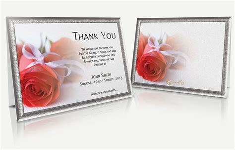 free memorial thank you card template 7 best images of printable bereavement cards funeral cards