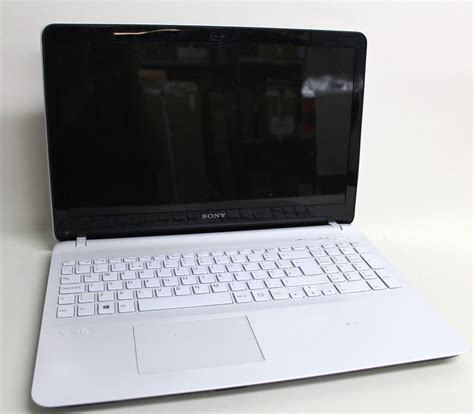 Laptop Sony Ram 4gb sony vaio fit 15e svf1521j1ew white 15 5 quot 4gb ram 750gb 1 90ghz windows 8 laptop ebay