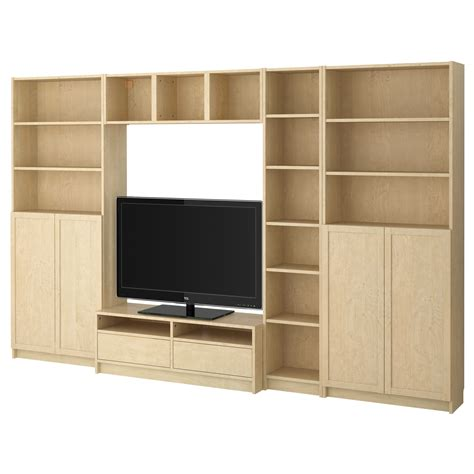 combinar besta y billy large wooden tv cabinet with storage and shelves