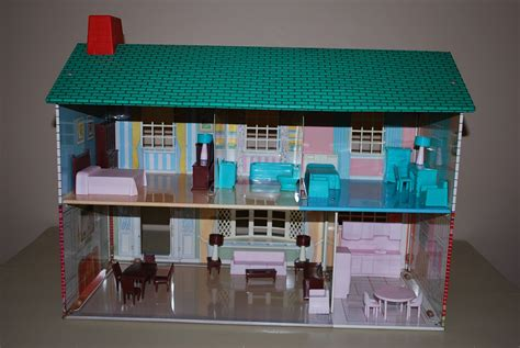 girl house 2 metal two story dollhouse by wolverine by aglimpsefromthepast