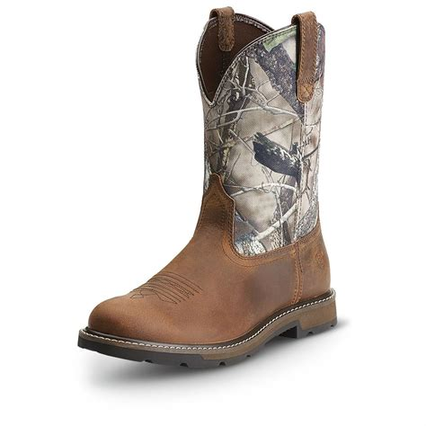 pull on boots ariat s groundbreaker pull on boots 593386 cowboy