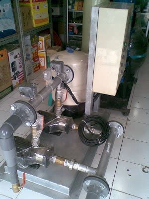 Centripugal Shimizu Sgjs 400 Pompa Air Rumah Industry Grundfos Booster Packaged Set