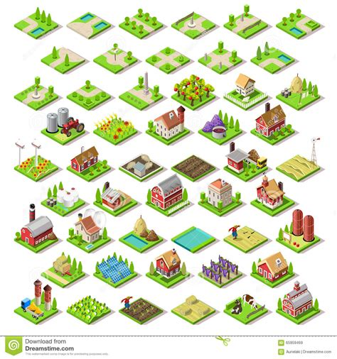 Build House Plans Online Free city map set 03 tiles isometric stock vector image 65959469