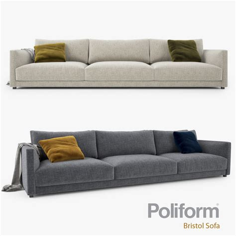 poliform sofa poliform bristol seater sofa 3d max