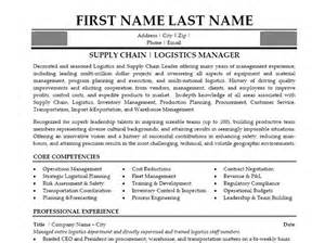 Resume Format For Supply Chain Management by Click Here To This Supply Chain Manager Resume Template Http Www Resumetemplates101