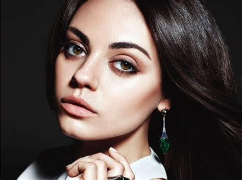 mila kunis fronts gemfields line of ethically sourced