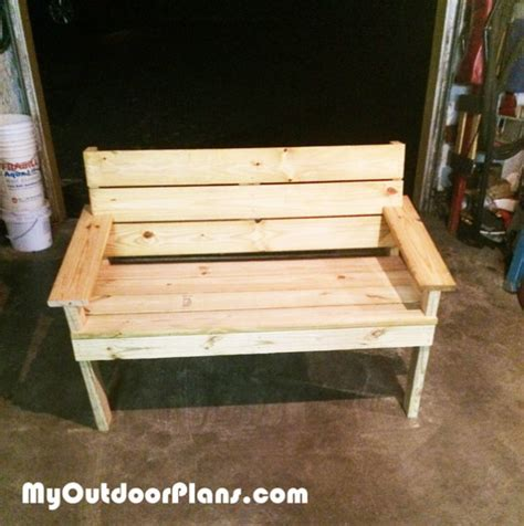 diy park bench myoutdoorplans  woodworking plans