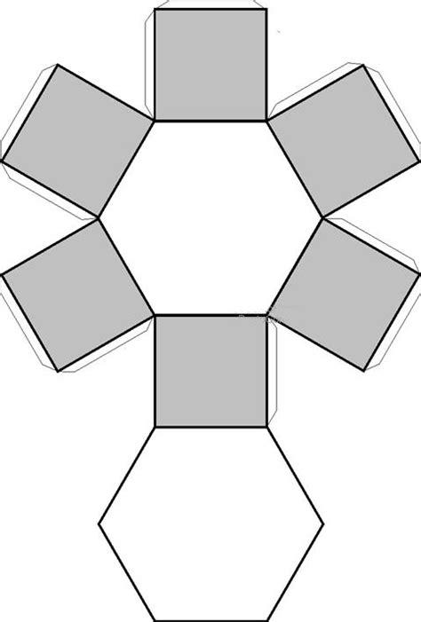 figuras geometricas recortables recortables de figuras geom 233 tricas prisma hexagonal