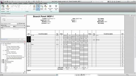 electrical load schedule template autodesk revit mep managing circuits