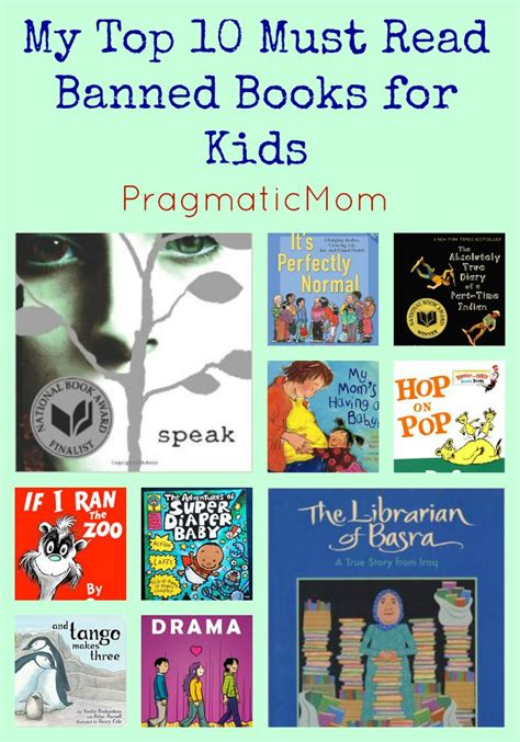 challenged picture books top 10 recommended banned books for pragmaticmom