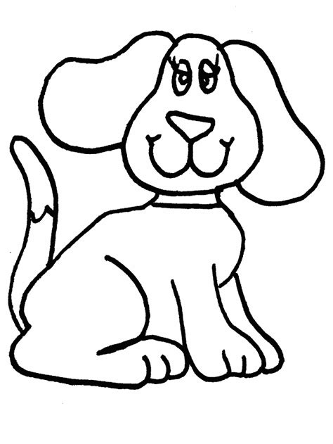 printable puppy coloring pages simple coloring page