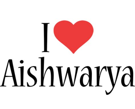 aishwarya logo  logo generator  love love heart