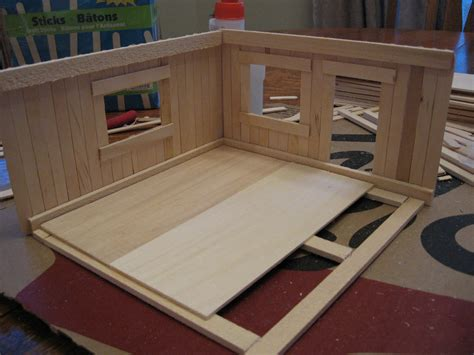 Make Floor Plan Almost Unschoolers Basswood And Popsicle Stick Doll House