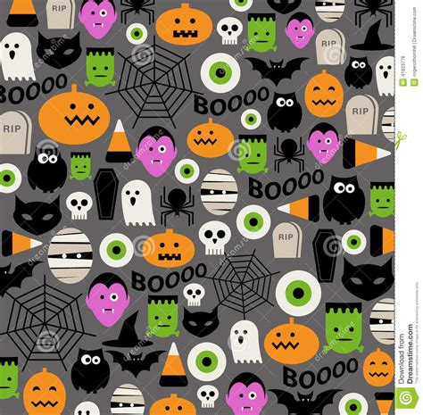 cute halloween pattern cute halloween icon pattern stock vector image 41823776