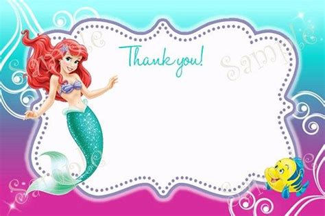 printable little mermaid thank you cards moana favor tags printable moana favor tags diy gift