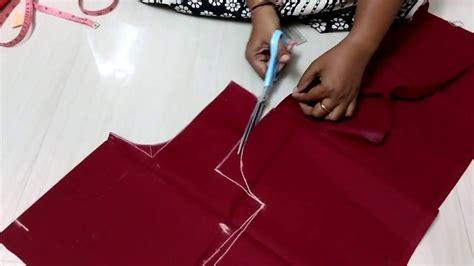 Cutting Of Saree Blouse Stitching by Blouse Cutting Lace Henley Blouse