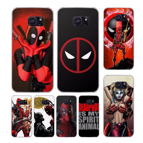 Custom Samsung Galaxy S5 Motif Marver Logo cool marvel deadpool design transparent clear cover for samsung galaxy s7 s8 plus