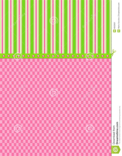 Background Check For Green Card Pink Checks And Green Stripes Greeting Card Stock Image Image 8502601