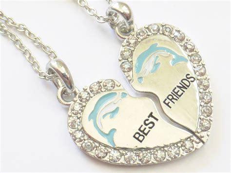new best friend dolphin silver tone 2 pendants 2