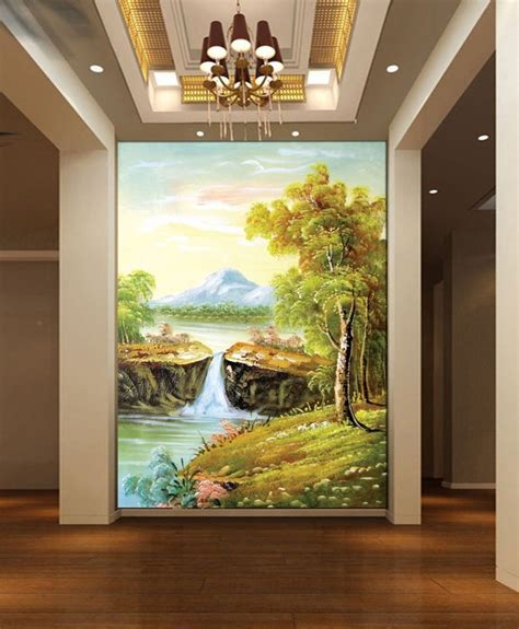 canvas wall murals european painting wall custom canvas mural entrance hallway non woven 3d wall decor canvas