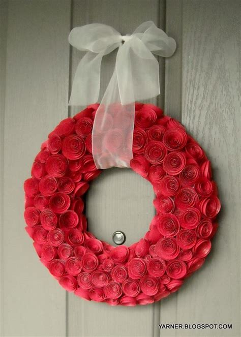 rolled paper flower wreath tutorial diy paper rose wreath tutorial catch my party