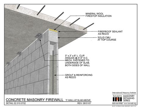 south florida approved shed plans 02 010 0702 concrete masonry firewall t wall at slab