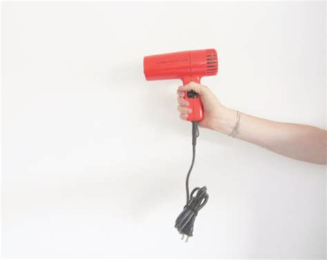 Will Hair Dryer Work As Heat Gun you of a gun hair dryer retro orange clairol