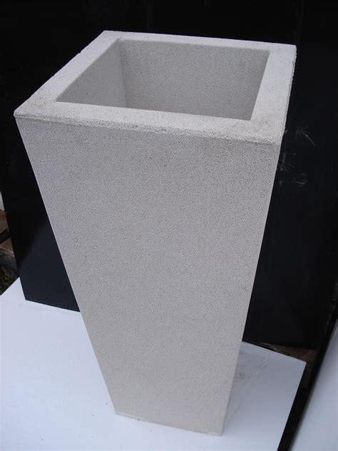 vaso cemento vaso fioriere quadrato in cemento torino 40x40 h60 cm