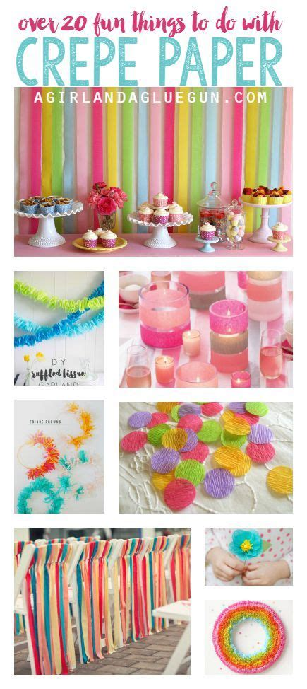 Things To Make With Paper And Glue - crepe paper roundup birthdays flower and wraps
