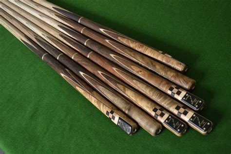 Handmade Pool Cues Uk - handmade stunning 4 thuya burl ash snooker pool cue