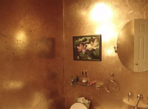 metallic paint in bathroom sheer fabrics gold wall paints and features of on pinterest
