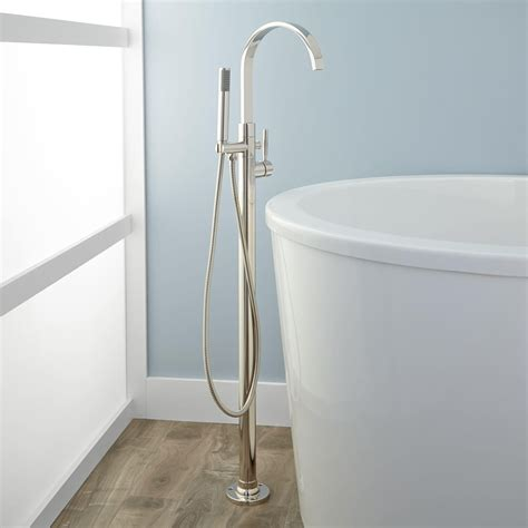 freestanding bathtub faucet benkei freestanding tub faucet and hand shower bathroom