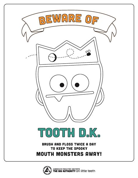 halloween dental coloring page casa smiles