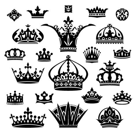 king crown brushes for photoshop 187 designtube creative vector crown creative silhouettes set 01 vector