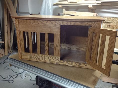 sofa table dog crate how to make end table dog crate discover woodworking