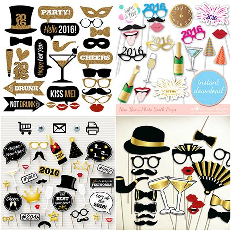 printable new years eve photo booth props 2016 2016 new years eve photo booth props glitter n spice