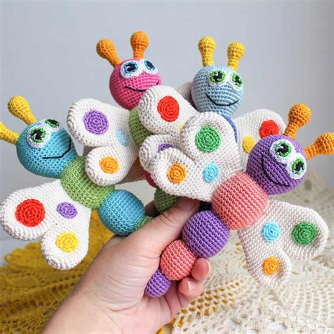 amigurumi baby butterfly baby rattle crochet pattern amigurumi today