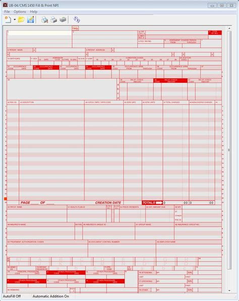 Image Of Ub 92 Fill Printable Fillable Blank Pdffiller Ub 04 Fill Print Software