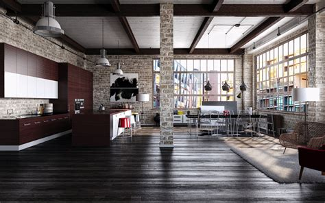 Loft Interior Design Ideas Photography Architecture Interior Design Interiors Loft Brick Wall Industrial Bookshelves Floor