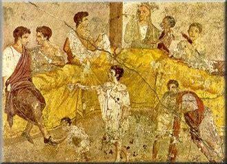 romani a tavola il galateo banchetto colonia iulia fanestris