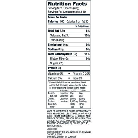 nutrition facts bag of skittles nutrition facts nutrition ftempo