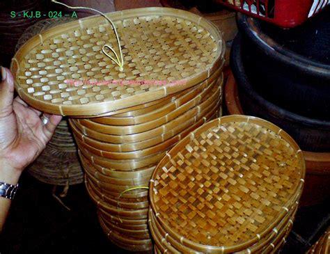 Keranjang Buah Atau Piring Buah anyaman bambu tempat lauk motif piring oval souvenir kita