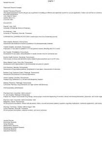 Resume Sle Of A by Best Pharmacist Resume Sales Pharmacist Lewesmr
