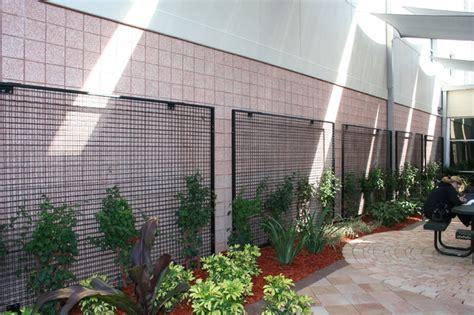 Exterior Wall Trellis Eco Mesh 174 Trellis Systems Contemporary Outdoor
