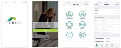 temporary housing directory thd portal app