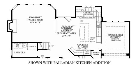 kitchen addition floor plans greenville overlook the elkton home design