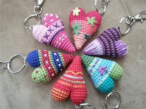 crochet heart pattern keychain free pattern adorable and easy to make heart keychain