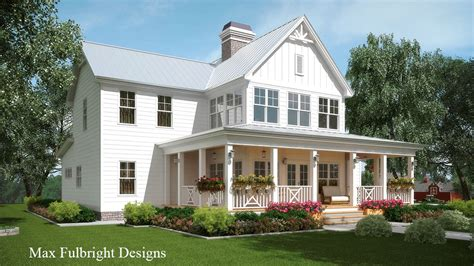 Lake Front House by 2 Story House Plan With Covered Front Porch