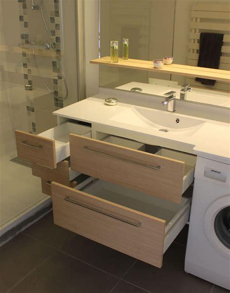 meuble de salle de bain sur mesure avec machine 224 laver
